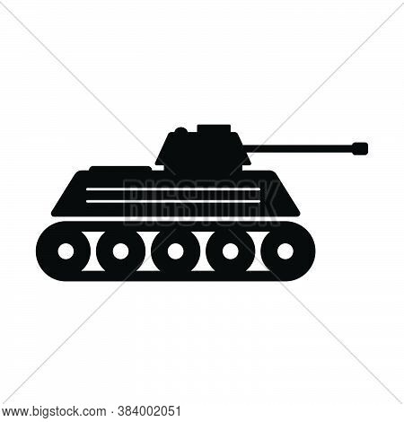 Military Tank Icon. Clip Art Pictogram Depicting A War Tank Icon. Eps Vector