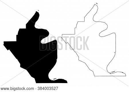 West Baton Rouge County, Louisiana (u.s. County, United States Of America, Usa, U.s., Us) Map Vector