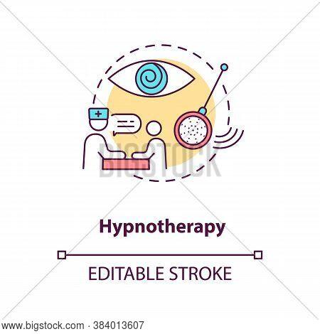 Hypnotherapy Concept Icon. Alternative Medicine, Psychoanalysis Idea Thin Line Illustration. Using H