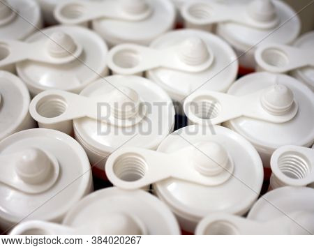 A Rows Of Plastic Tubes With Sealant