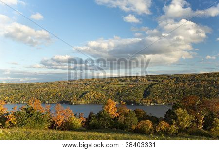 Hills And Autumn Foliage