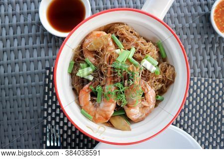Baked Prawns With Vermicelli, Stir Fried Vermicelli With Shrimp Or Noodles