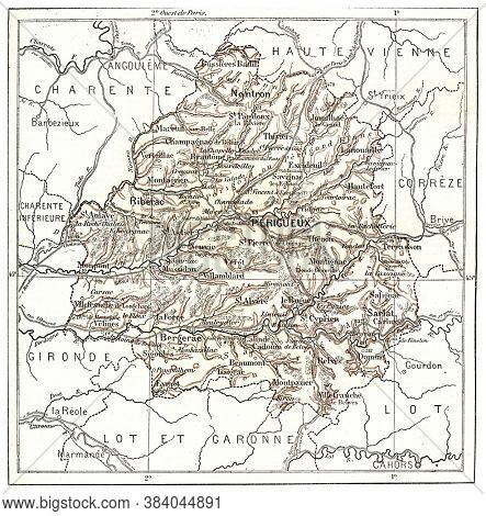 Department of Dordogne, From the Dictionary of Word and Things, 1888.