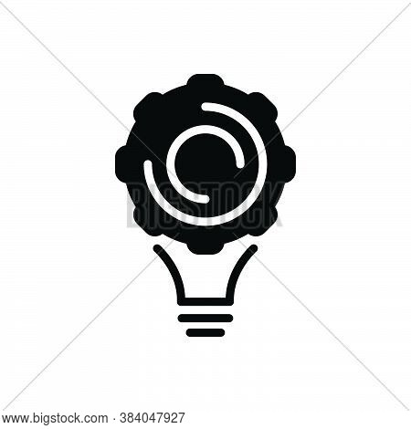 Black Solid Icon For Implement Appliance Utensil Contraption Solution Cogwheel Idea Conceptualize Co