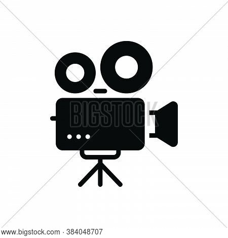 Black Solid Icon For Video-camera Video Camera Videographer Broadcast Camcorder Production Recording