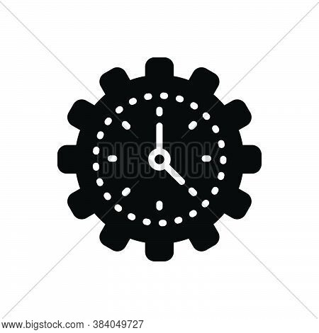 Black Solid Icon For Efficiency Time Management Concept Speed Gauge Ability Skill Capacity Competenc