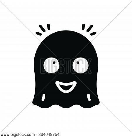 Black Solid Icon For Ghost Phantom Spirit Apparition Spook Goblin Demon Fiend