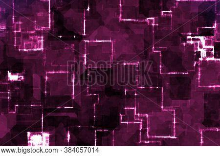 Creative Cute Pink Cybernetic Digital Shining Digital Graphic Background Illustration