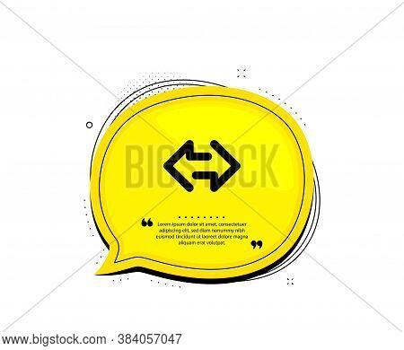 Sync Arrows Icon. Quote Speech Bubble. Communication Arrowheads Symbol. Navigation Pointer Sign. Quo