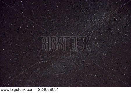 Night Sky With Stars Above German City Of Reintenhain On 16th August 2020