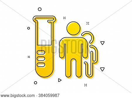 Medicine Beaker Sign. Medical Analyzes Icon. Pharmacy Medication Symbol. Yellow Circles Pattern. Cla