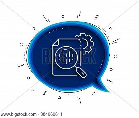 Seo Stats Line Icon. Chat Bubble With Shadow. Settings Cogwheel Sign. Traffic Management Symbol. Thi