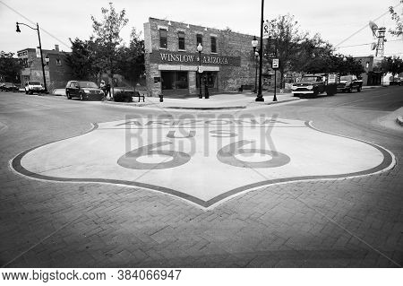 Winslow Arizona Usa - September 22 2015; Famous Corner In Winslow Arizona And Subject Of Eagles Song