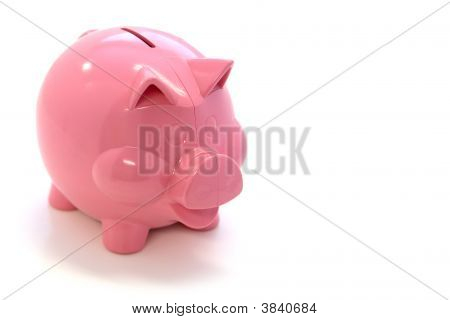 Happy Pink Piggy Bank