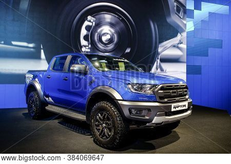 Nonthaburi-thailand 30 Nov 2018: Ford Ranger Raptor Show On Display At The 35th Thailand Internation