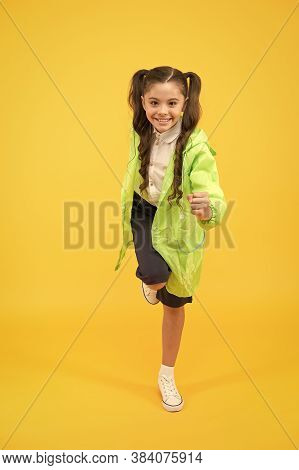 Schoolgirl Wear Raincoat. Kids Raincoats With Vibrant Shapes Unique Designs. Schoolgirl Wear Water R