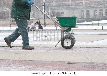 Salting The Sidewalk
