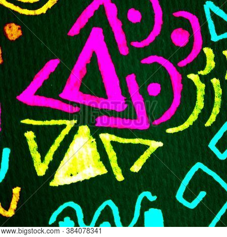 Truck Art Prints. Rainbow Ethnic Triangle. Rainbow Abstract Art Motif. Multicolor Ethnic Art. City P