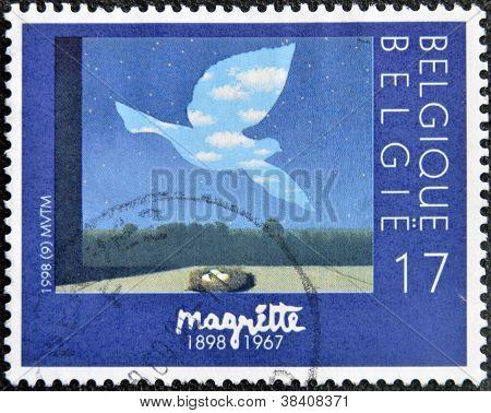 BELGIUM - CIRCA 1998: A stamp printed in Belgium shows the painting