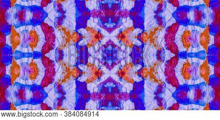 Multicolored Batik. Japanese Seamless Natural. Multicolored Background Ties. Vintage Tie Effect. Mul