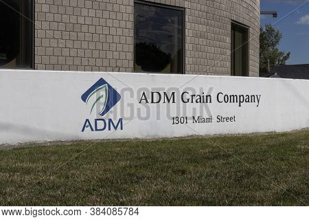 Toledo - Circa September 2020: Archer Daniels Midland Grain Terminal Plant. Adm Is A Global Food Pro