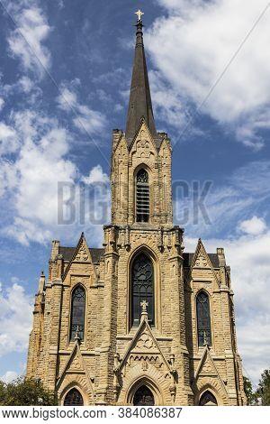 Toledo - Circa September 2020: Historic Church Of St. Patrick. The Historic Church Of St. Patrick Is