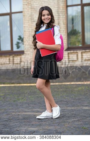 Smart Choice. Happy Lyceum Student Outdoors. Little Child Study In Lyceum. Back To School. Secondary