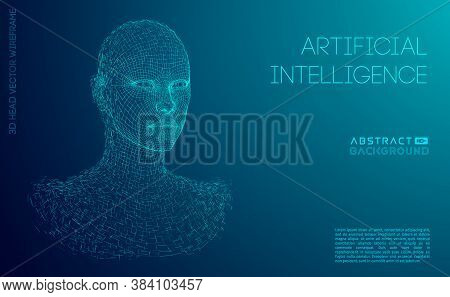 Robot Blue Eyes Android. Artificial Intelligence Female Robot Woman. Iot Vision Ai Female.