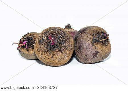 Isolated Beetroot. Whole Beetroot Isolated On White Backgrounds