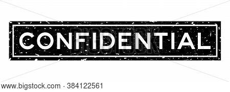 Grunge Black Confidential Word Square Rubber Seal Stamp On White Background