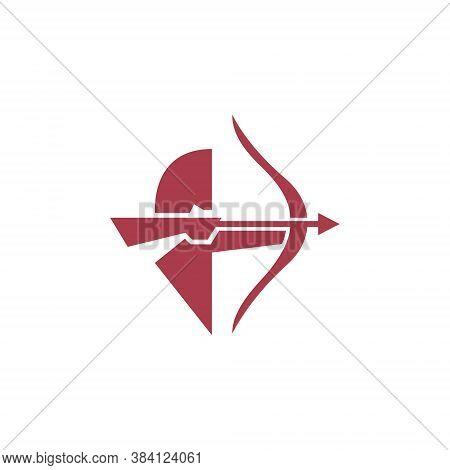 Archery Bow Arrow Man Aim Target Abstract Sport Business Logo