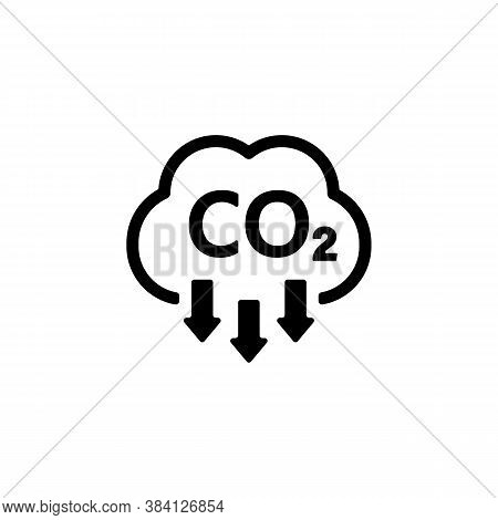 Co2 Icon. Carbon Dioxide Emissions Reduction Sign. Vector On Isolated White Background. Eps 10