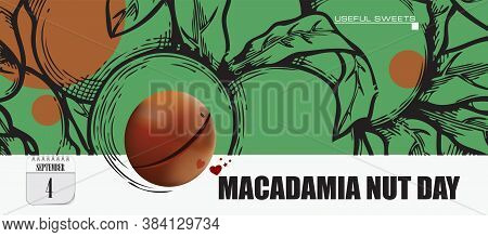 Post Card For Event September Day Macadamia Nut Day
