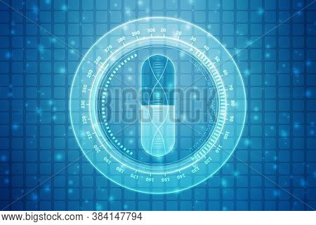 Dna Structure, Abstract Medical And Healthcare Background,abstract Technogoly Science Concept Dna Fu