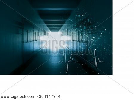 Concepts And Ideas For Healthcare Technology, Innovation Medicine, Health On Walkway In Hospitals Ba