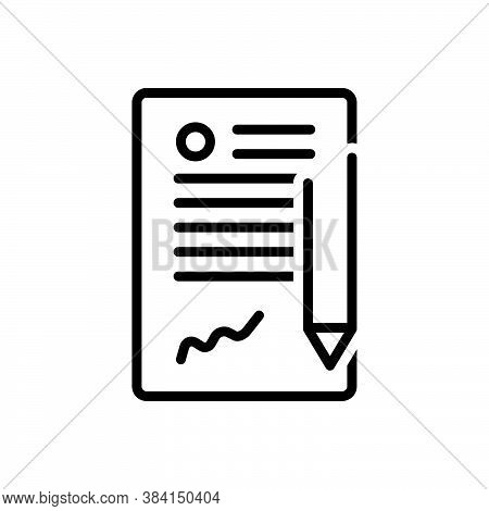 Black Line Icon For Contract Long-term-contract Agreement Appendage Legal Bond Appendage Guarantee P