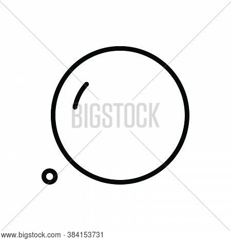Black Line Icon For Huge Giant Vast Spacious Gigantic Enormous