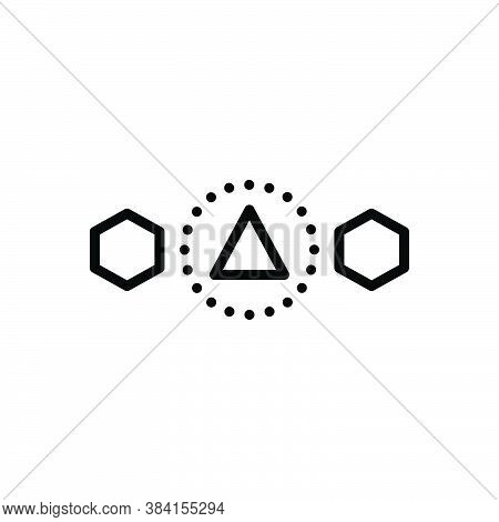 Black Line Icon For Differ Other Another Discontiguous Splits Asunder Various Apart Different Asunde
