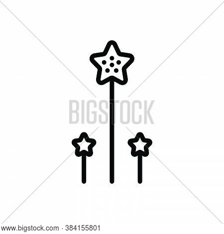 Black Line Icon For Long Tall Length Prolonged High Length Big