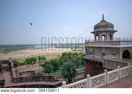 Agra Uttar Pradesh India On 21st September 2018: Taj Mahal View From Agra Fort Uttar Pradesh India.