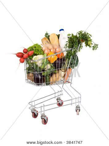 Groceries In Shopping Cart