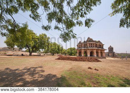 April 12th 2016 Hampi Karnataka India : Lotus Mahal At Hampi Karnataka India One Of The Most Popular