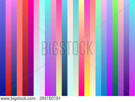 Stripe Colorful Pattern. Vertical Rainbow (multi Colored) Lines Texture Useful For Holiday Backdrop