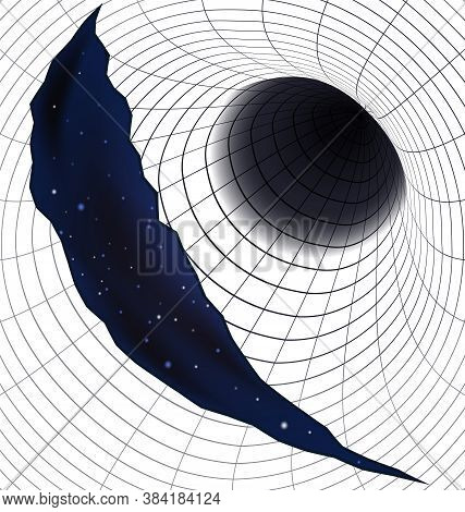 Vector Illustration Abstract Open Hole And Cosmos