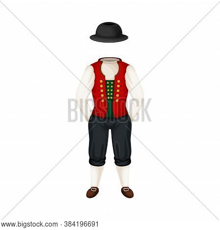 Bunad As Norwegian National Costume And Clothing Vector Illustration