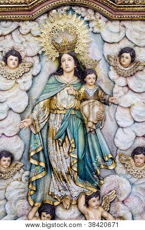 Relief Sculpture Of Virgin Mary