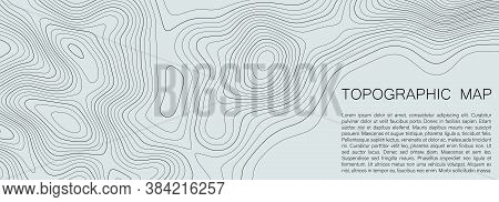 Topographic Map Lines Background. Abstract Vector Illustration.