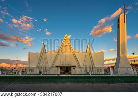 Immaculate Church Of Concepcion De Maria Located In Liberia, Costa Rica. Photographed From Mario Can