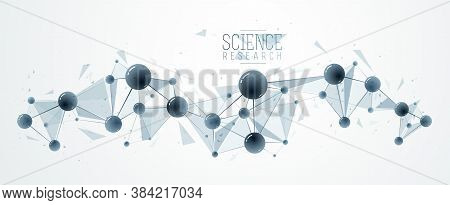 Vector Molecules Scientific Chemistry And Physics Theme Vector Abstract Background, Micro And Nano S
