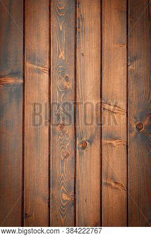 Black Wood Texture Pattern. Timber Plank Surface Wall For Vintage Grunge Wallpaper. Dark Grain Panel